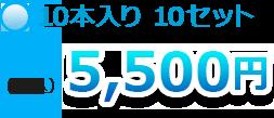 10本入り10セット5,500円